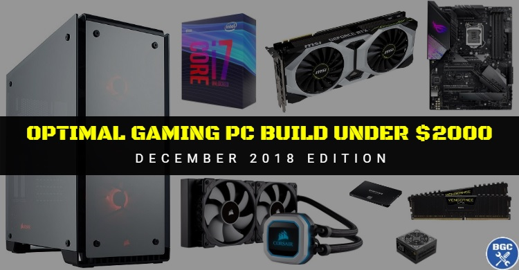 Best Extreme Gaming Pc Build Under 2000 December 2018 Recommended Pc