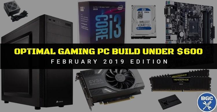 Top value PC parts for a $600 PC build