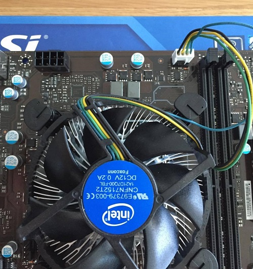 cpu stock cooler installation