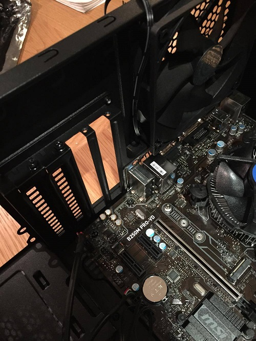 prepare case to install graphics card