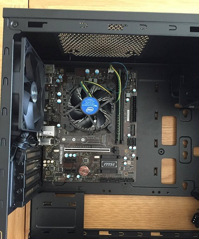 install motherboard into pc case